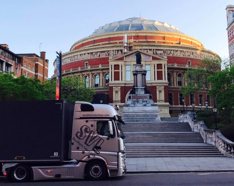 SVL truck outside the Royal Opera House, London
