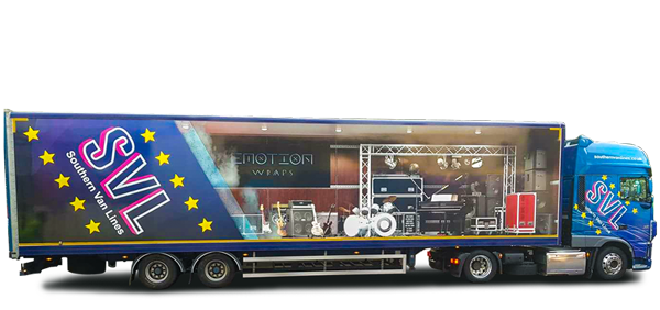 Music and Band concert transportation lorry